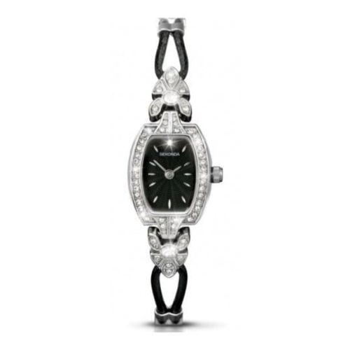 Stainless Steel & Leatherette Cord Watch