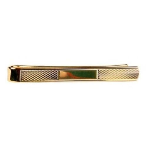Gold Plated Textured Tie Bar