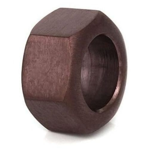 Gents Brown Coated Hexagon Shaped Link