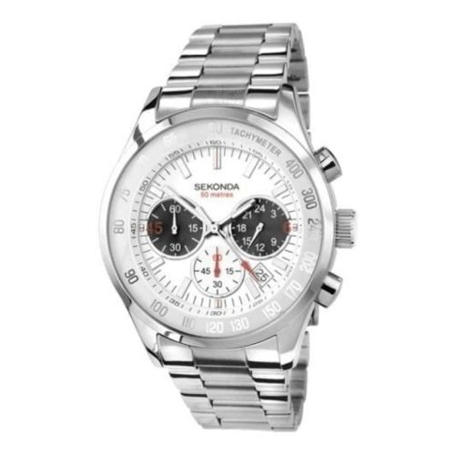 Gents Stainless Steel Tachymeter & Chronograph Watch