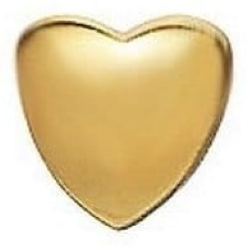 Gold-plated On Silver Smooth Heart Link