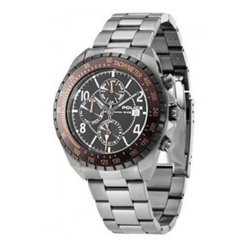 Gents Navy Chronograph Oxidised Stainless Steel Watch
