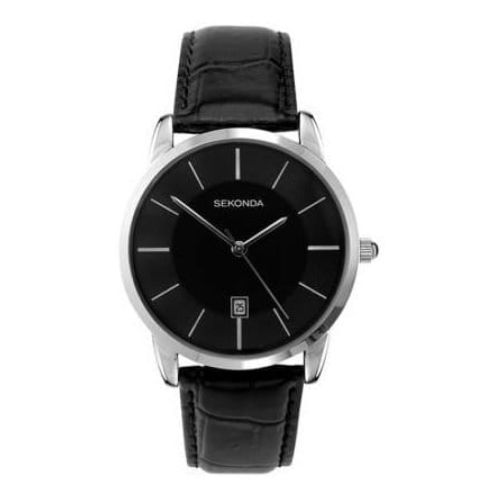 Black Classic Gents Leather Watch