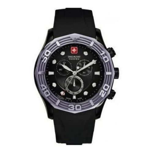 Swiss Black Oceanic Rubber Chronograph Watch