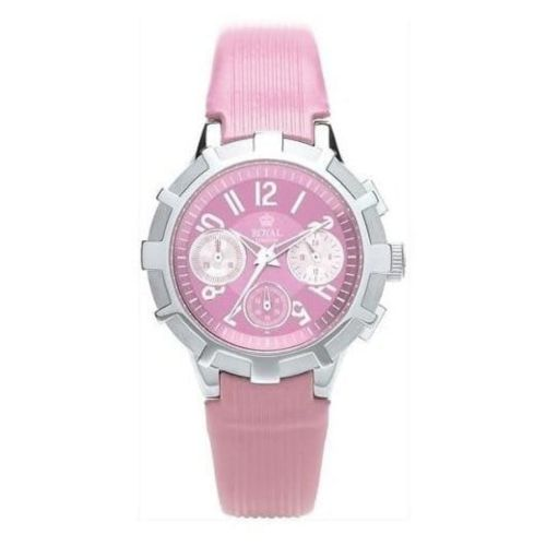 Ladies The Sky High Pink Leather Chronograph Watch