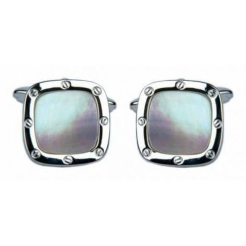 Square Shaped Porthole Mother Of Pearl Cufflinks