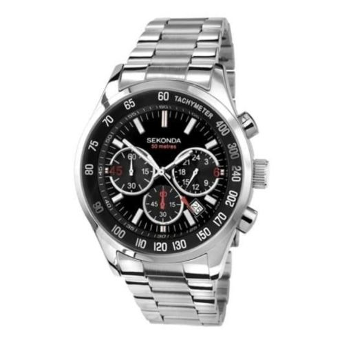 Gents Stainless Steel Chronograph & Tachymeter Bracelet Watch