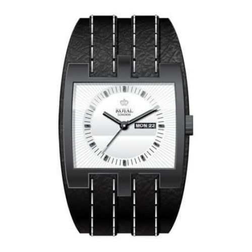 The Illustrious Gents Urban Black & White Leather Watch