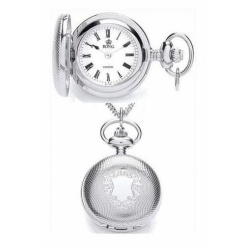 Ladies Chrome Pendant Necklace Watch With Roman Numerals
