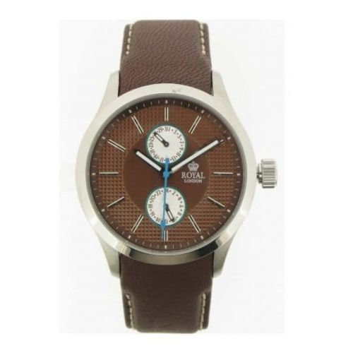 Gents Brown Leather With Hour & Date Function Watch