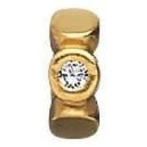 Gold-plated On Silver And Cubic Zirconia Spacer Link