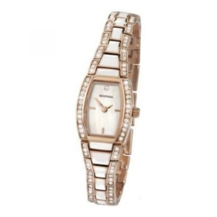 Ladies Quartz Rose Gold Plated Wrist Watch