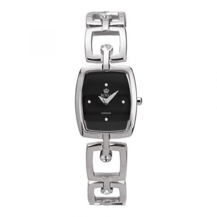 Ladies Polished Stainless Steel And Cubic Zirconia Watch