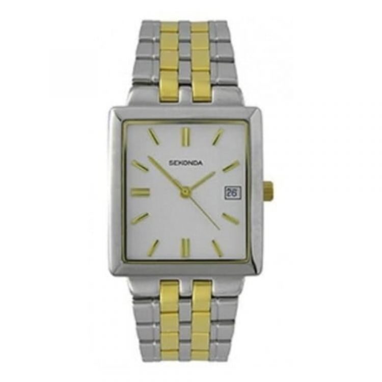 Gents Two Tone Analogue Bracelet Watch