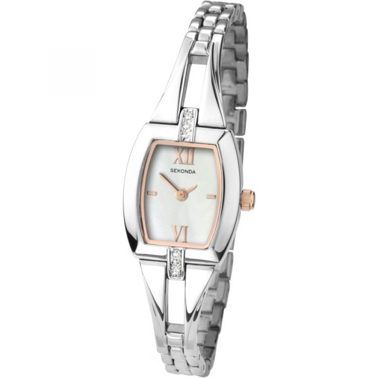 Stainless Steel Ladies Mother of Pearl Dial Watch