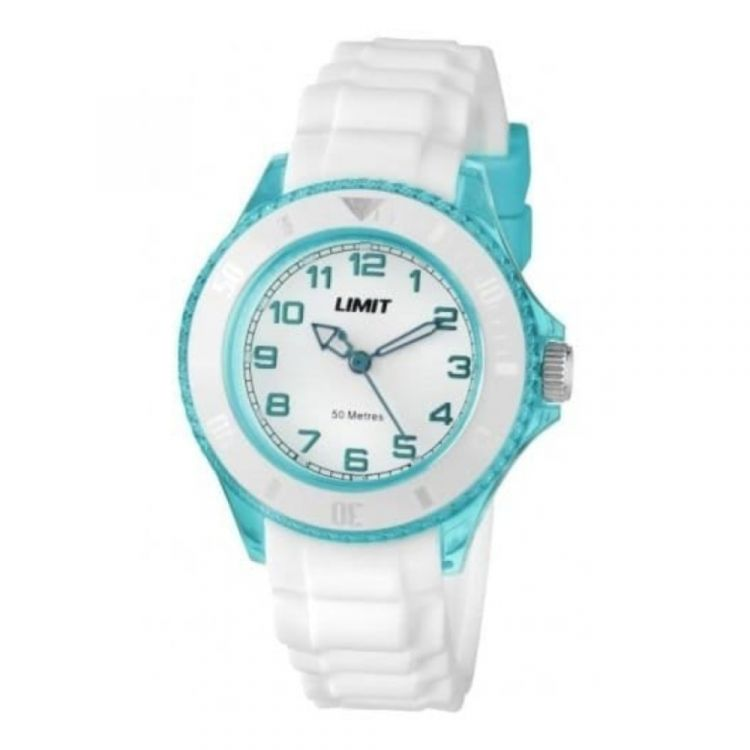 White Rubber Ladies Turquoise Resin Case