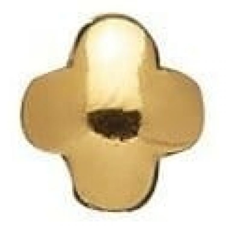 Gold-plated On Silver Clover Link