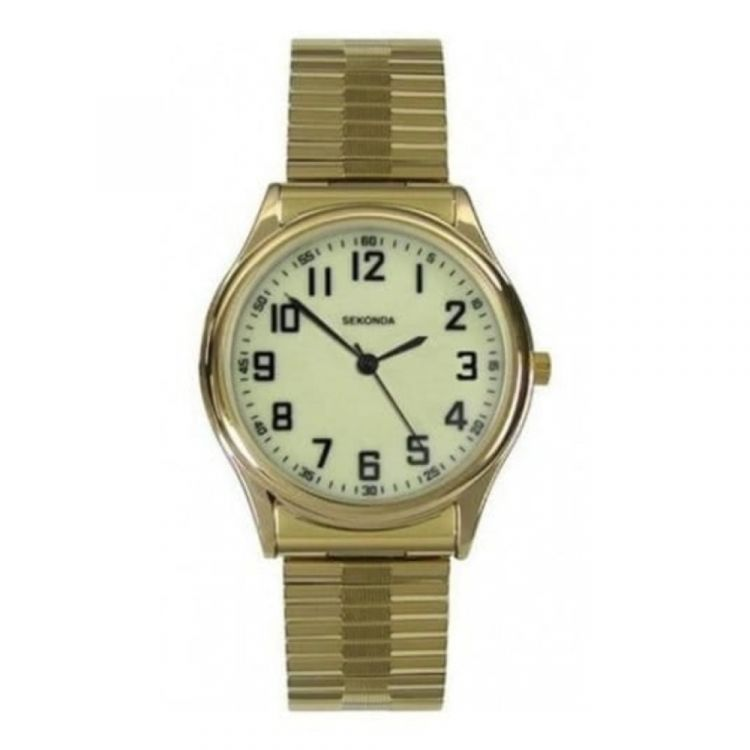 Gents Gold Coloured Expandable Watch