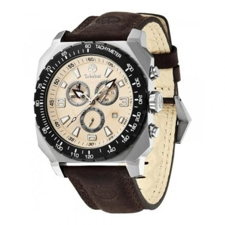 Gents Stratham Brown Leather Chronograph Watch