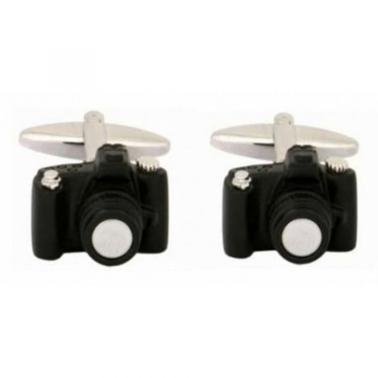 Rhodium Plated Digital Camera Cufflinks