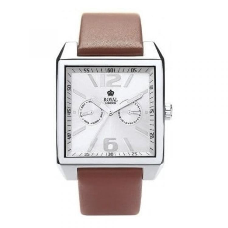 Gents Brown Leather The Headliner Strap Watch