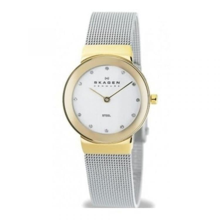 Ladies Silver Dial Steel Mesh Strap Watch