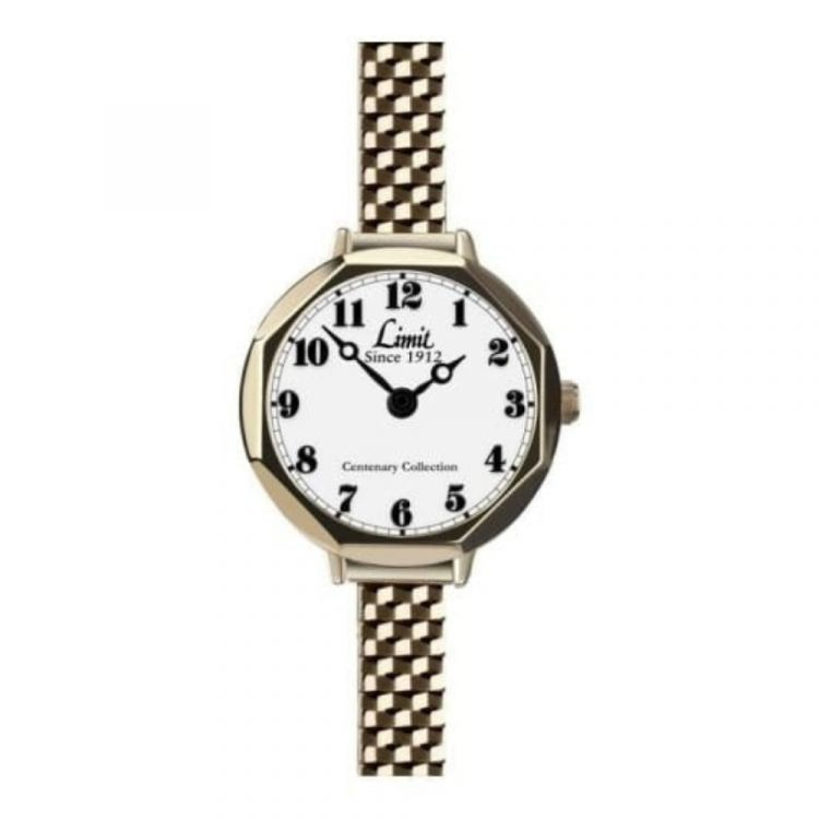 Limit Gold Stainless Steel Expandable Ladies Watch