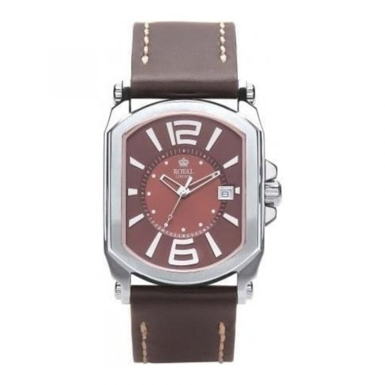 Gents Brown Dial & Leather Strap Watch