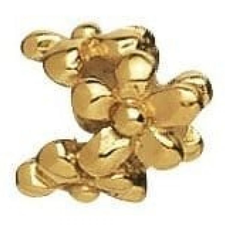 Gold-plated On Sterling Silver Flower Link