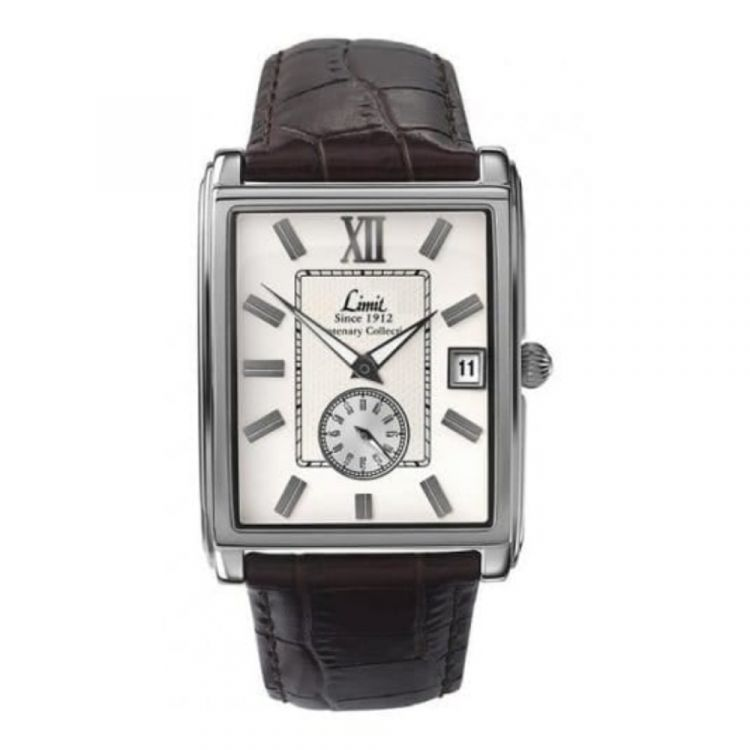 Brown Croco Leather Rectangular Centenary Collection Watch