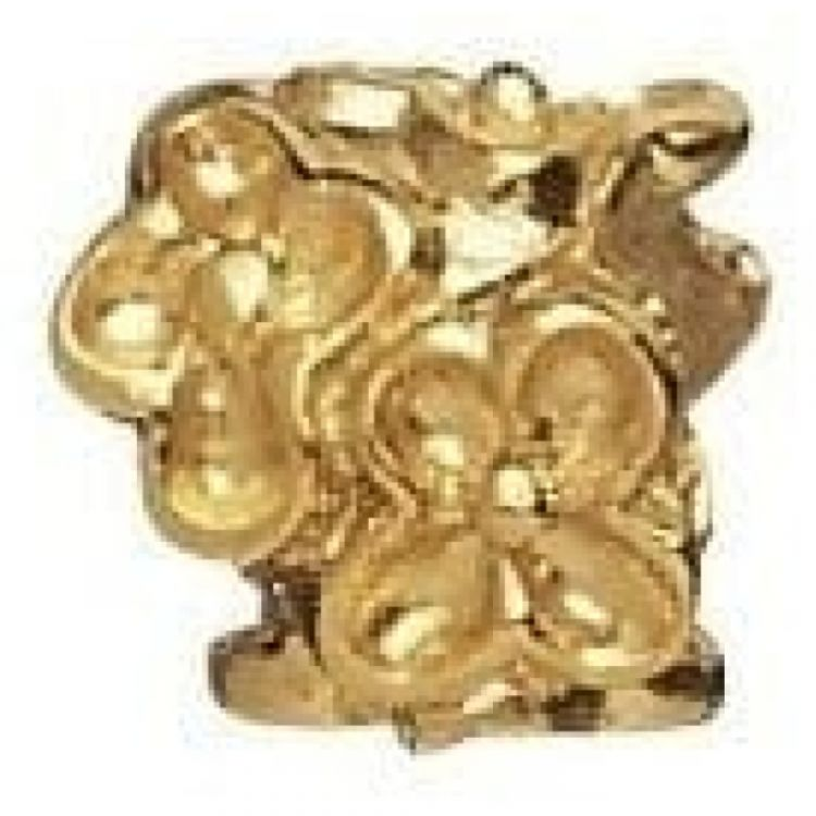 Gold-plated On Sterling Silver 'Ring Of Flowers' Link