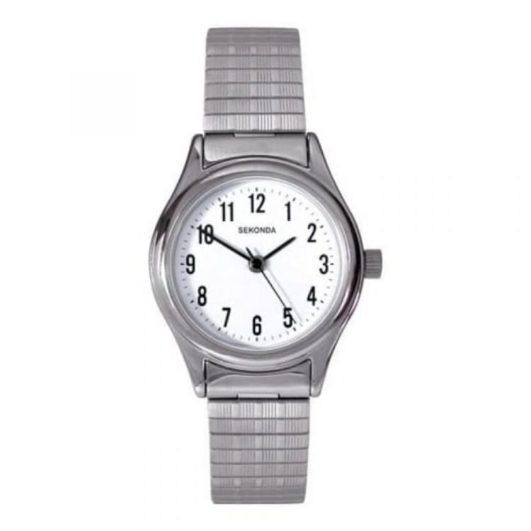 Ladies Expandable Stainless Steel Strap Watch