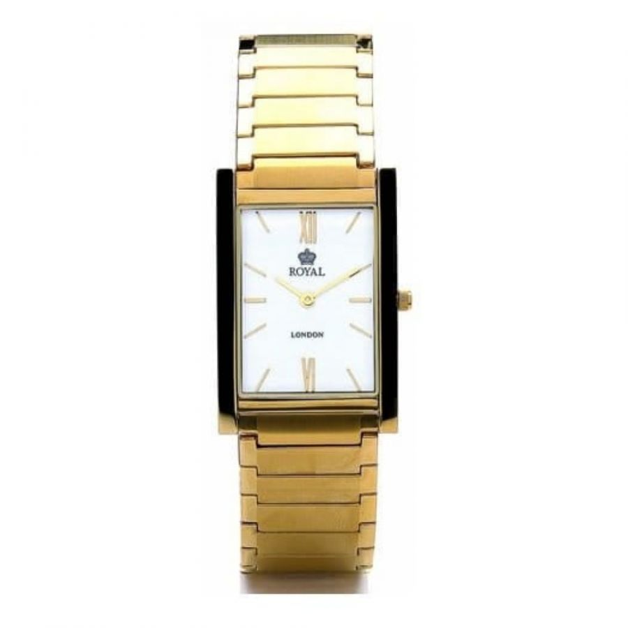 Pvd Gold Brushed And Polished Stainless Steel Watch