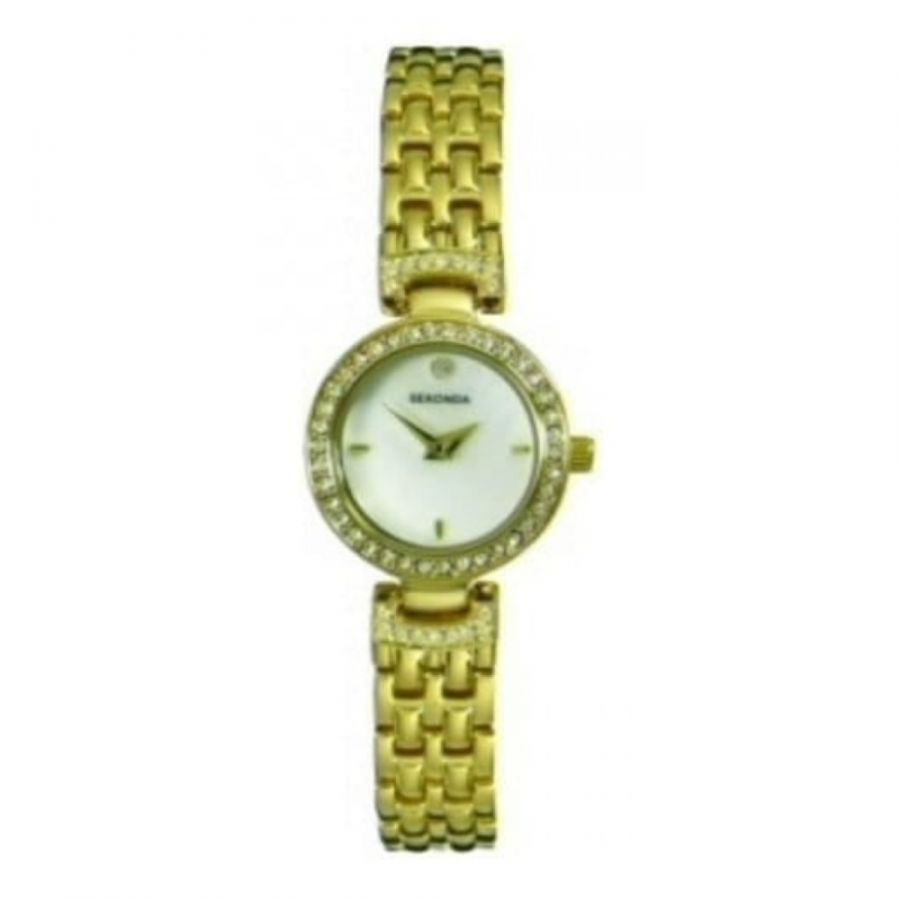 Ladies Mother Of Pearl Dial and Gold Plated Bracelet Watch