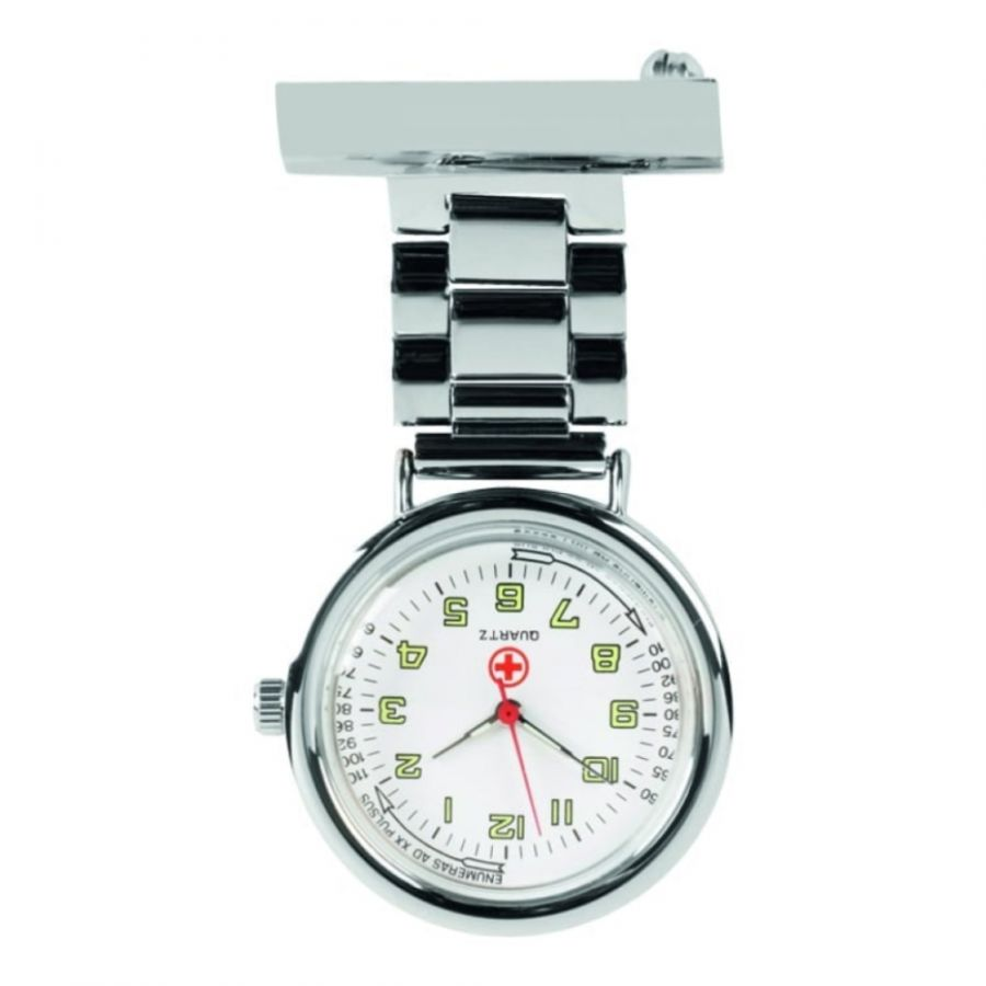 Unisex Nurse Chrome Plated Fob Watch