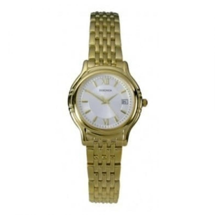Ladies Gold-plated Stainless Steel Bracelet Watch