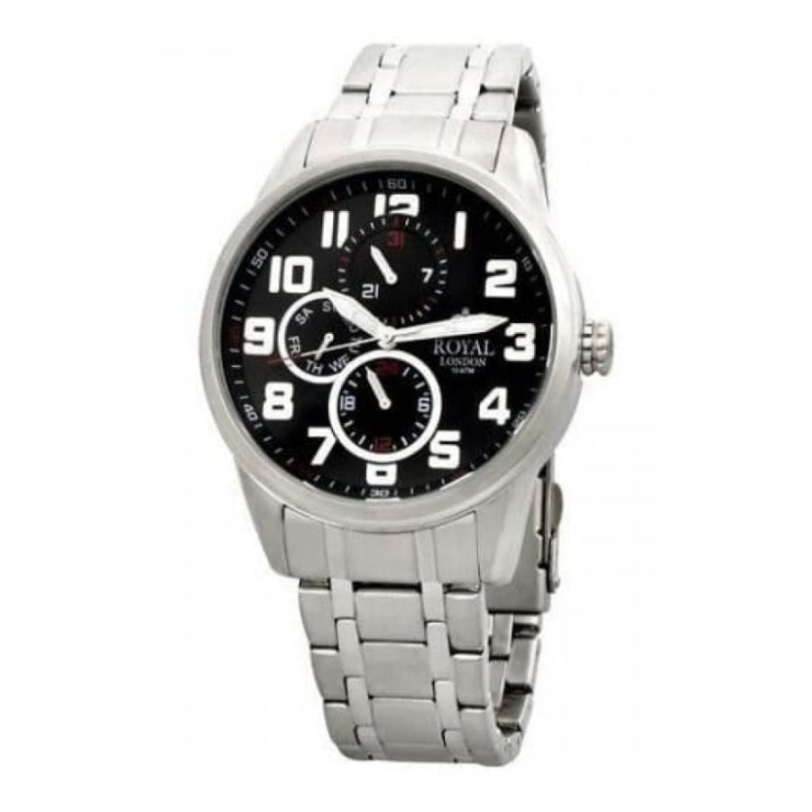 Stainless Steel Gents Chronograph Wristwatch