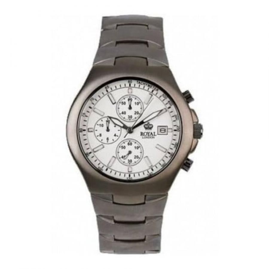 Gents Brushed Titanium Analogue Wristwatch