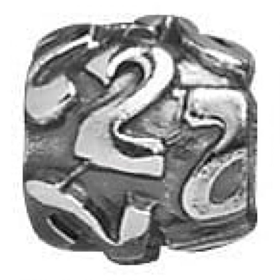 Sterling Silver Two Number Link