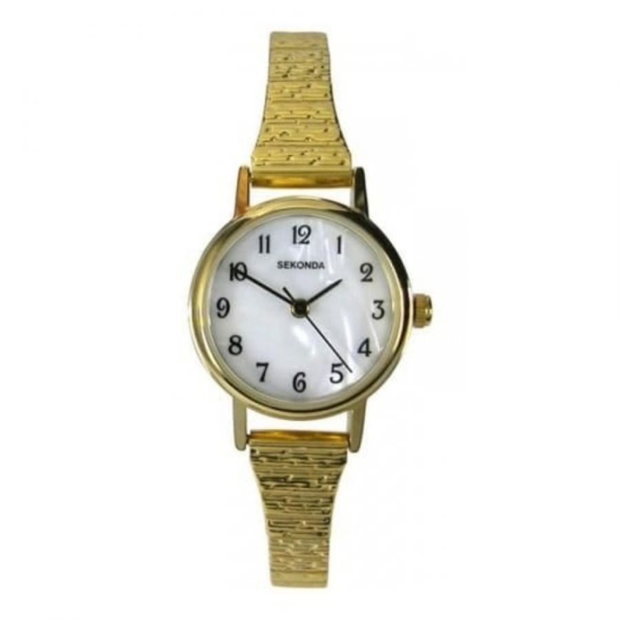 Gold Plated Sekonda Wristwatch With Arabic Numerals