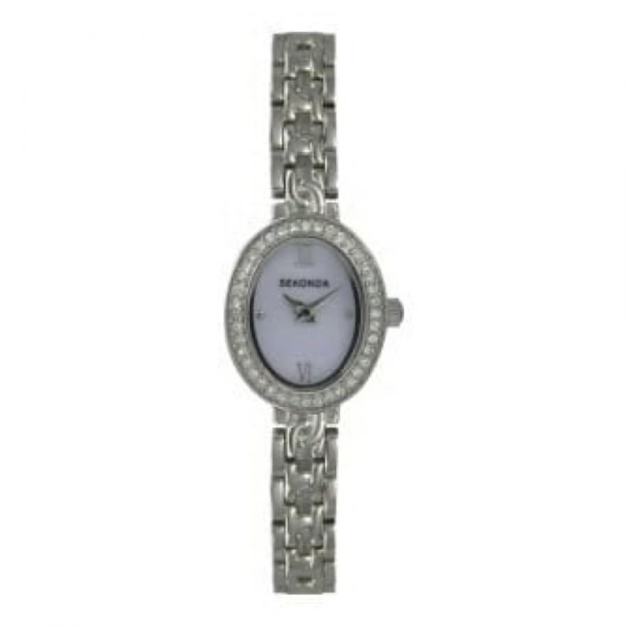 Ladies Stainless Steel Quartz Bracelet Watch With Roman Numerals