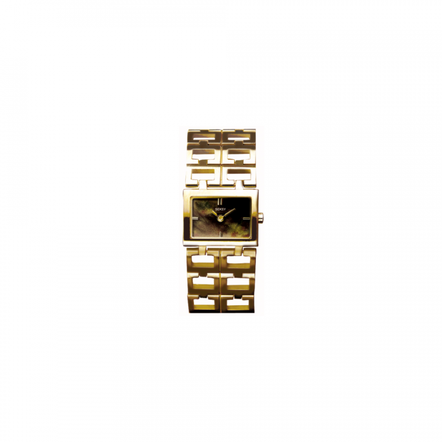 Gold Plated Square Dial Bracelet Watch