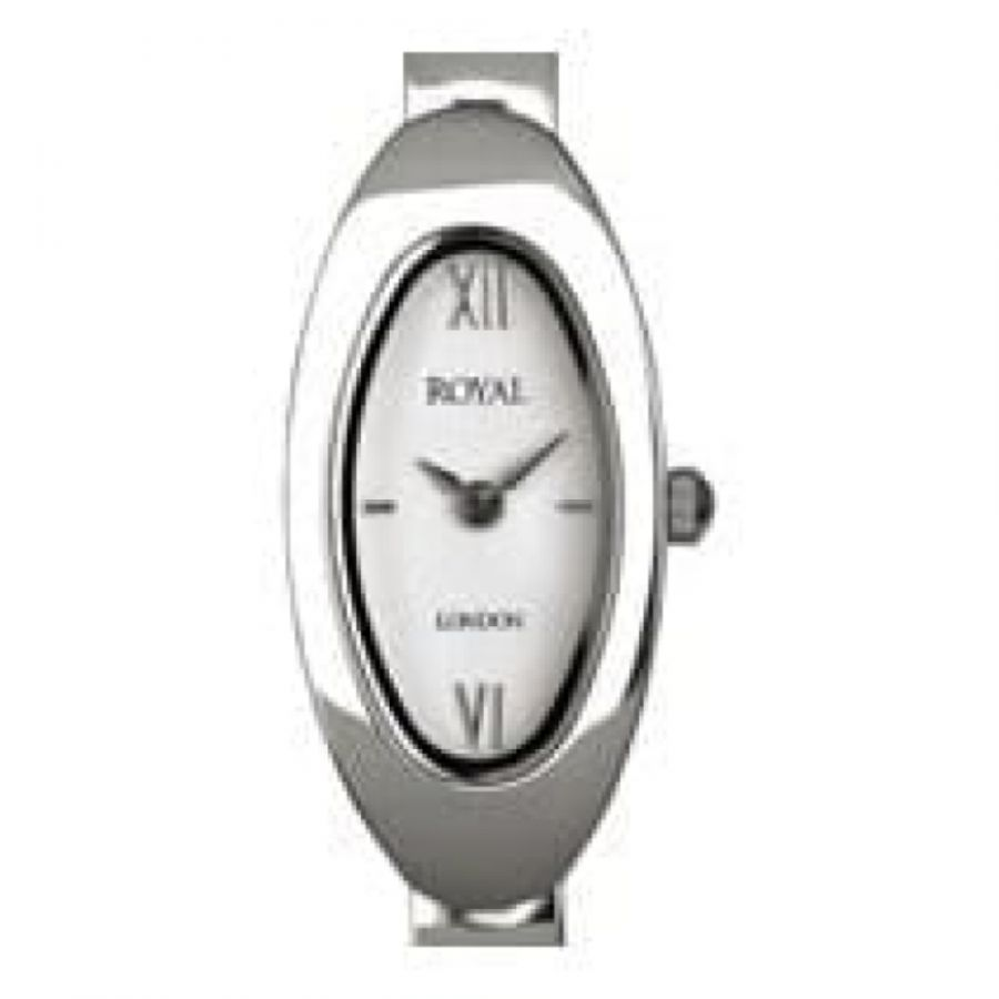 Ladies Silver Polished Stainless Steelwristwatch