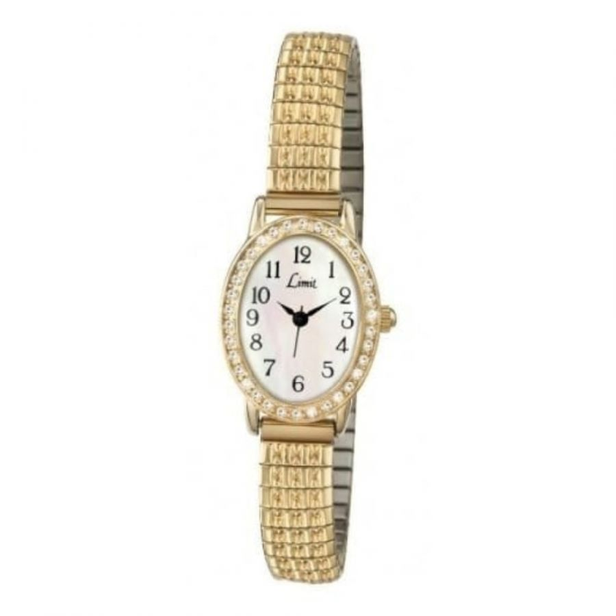 Oval Expandable Ladies Gold Watch