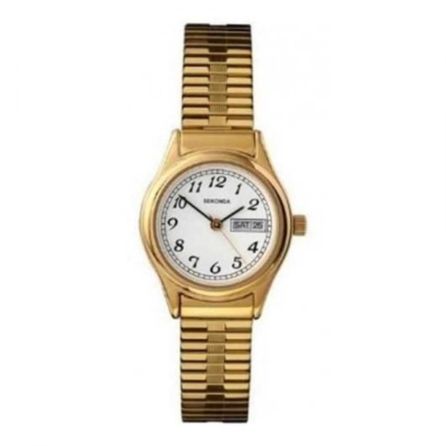 Gold Stainless Steel Expandable Ladies Watch