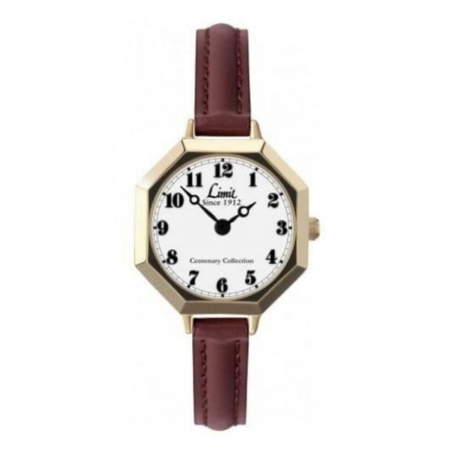 Centenary Collection Burgundy Leather Watch