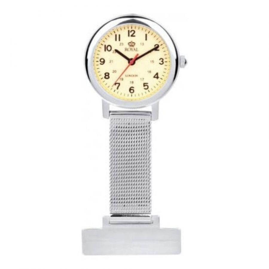 Stainless Steel Illuminous Dial Fob Watch