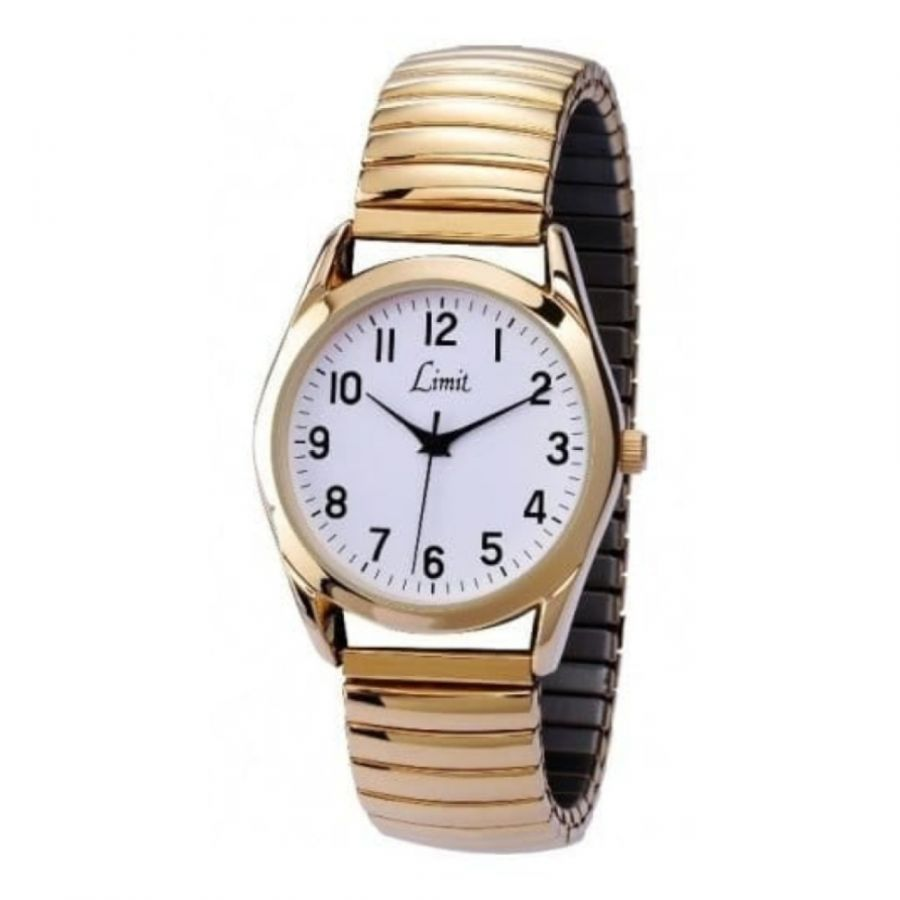 Gold Expandable Stainless Steel Watch