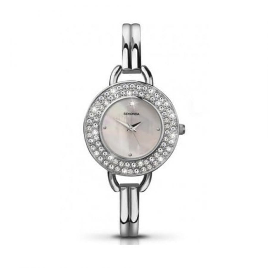 Stainless Steel Crystal Ladies Watch