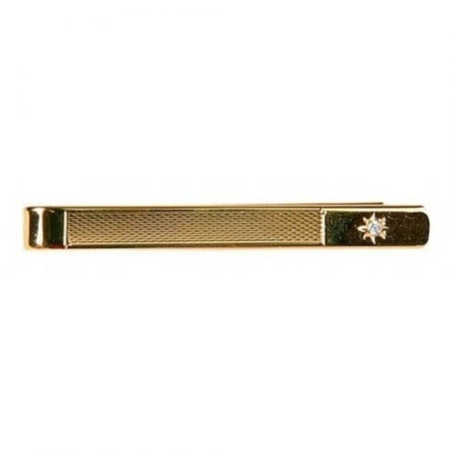 CZ Gold Plated Tie Bar